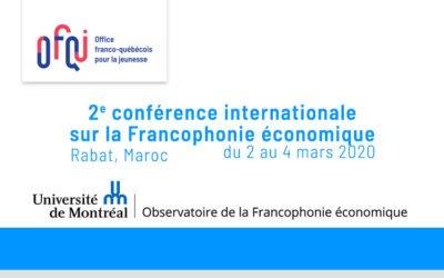 Conférence internationale sur la Francophonie économique 2020