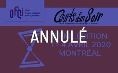 Courts d'un soir Montréal 2020 – annulé