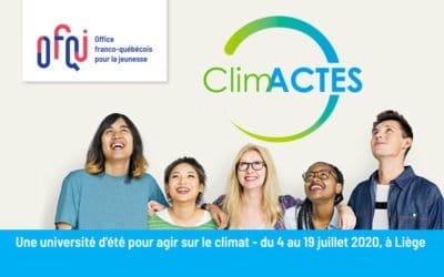 ClimACTES, l'université d'été pour le climat 2020