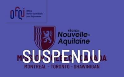 Mission économique Québec – Canada pour entrepreneurs aquitains – suspendu