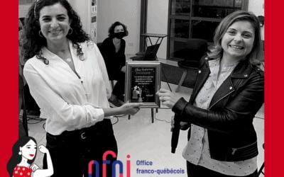 Soirée Les Audacieuses – Nyssaé remporte le Prix OFQJ 2020