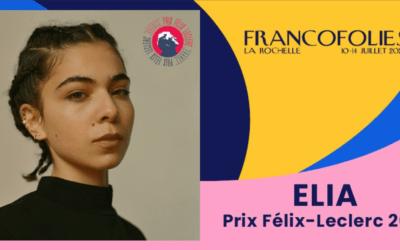 L'artiste Elia lauréate française du Prix Félix Leclerc 2021 des Francofolies de la Rochelle